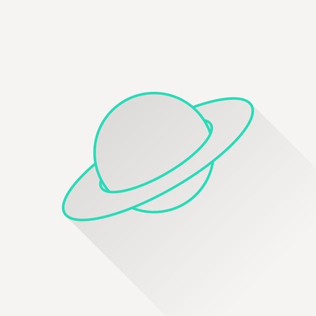 and saturn: saturn planet silhouette icon