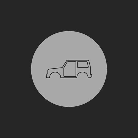 car body: icon of car body
