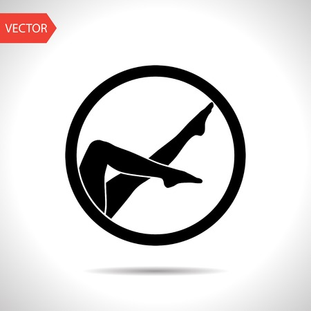 female symbol: woman legs vector icon