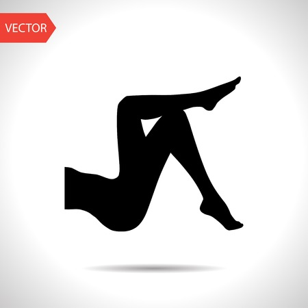 legs stockings: woman legs vector icon
