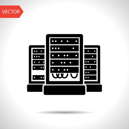 internet servers: server cabinets vector icon