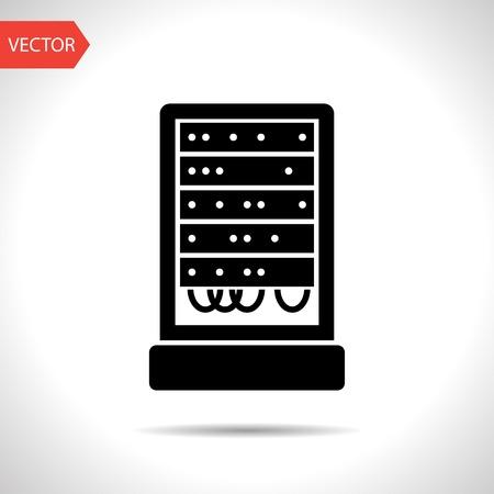 server cabinet vector icon Stock Vector - 47781553