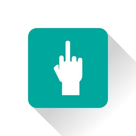 obscene: rude hand sign icon Illustration