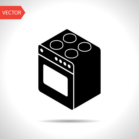 cooking oven isometric 3d icon 向量圖像