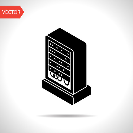remote server: server isometric 3d icon Illustration