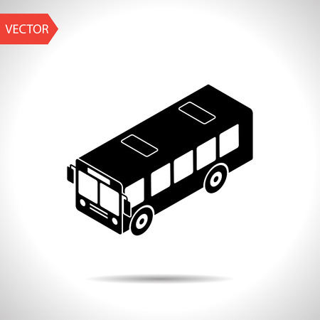 bus station: bus isometric 3d icon