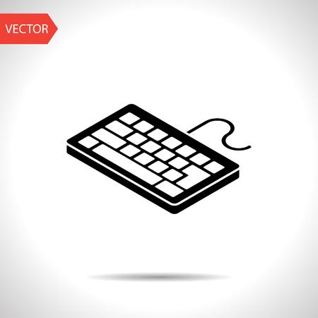 pc icon: pc keyboard isometric 3d icon Illustration