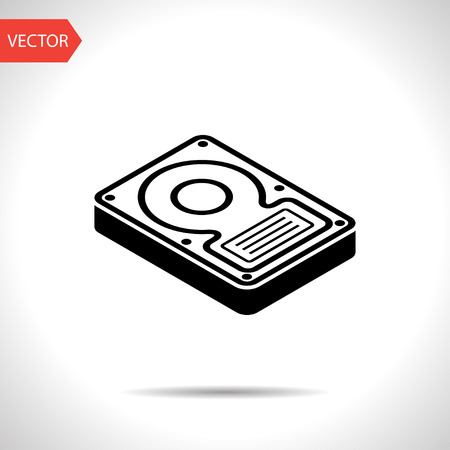 disk drive: hard disk drive storage isometric 3d icon