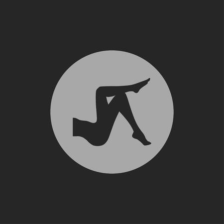 pies sexis: piernas de la mujer icono Vectores