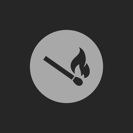 burning: burning match icon