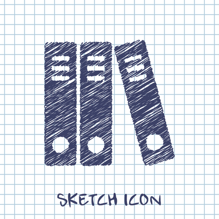 ring binder: document folders business sketch icon