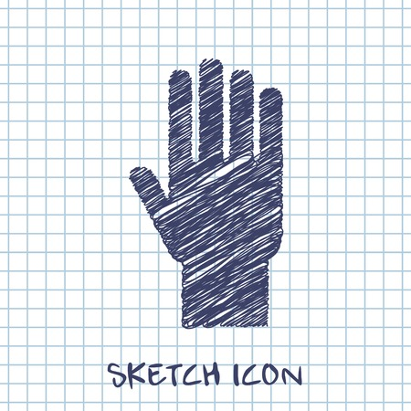 palm hand: hand sketch icon