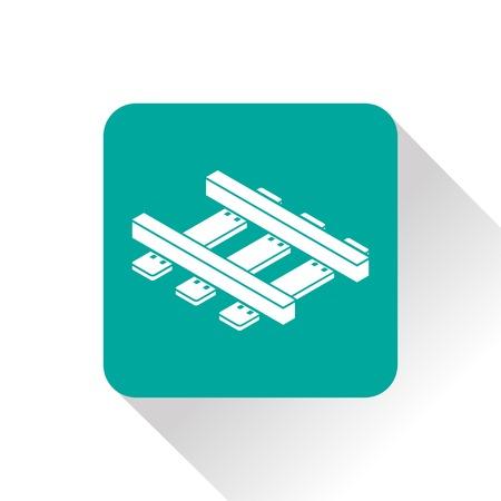 locomotion: railroad isometric 3d icon