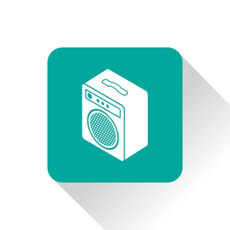 amplify: guitar amplifier isometric 3d icon