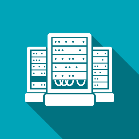 webhosting: server cabinets vector icon