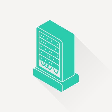 gigabyte: server isometric 3d icon Illustration
