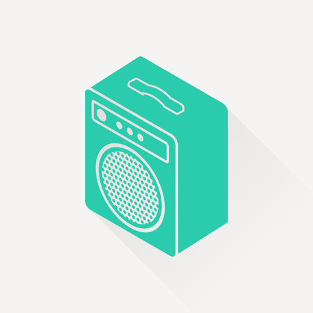 amplifier: guitar amplifier isometric 3d icon