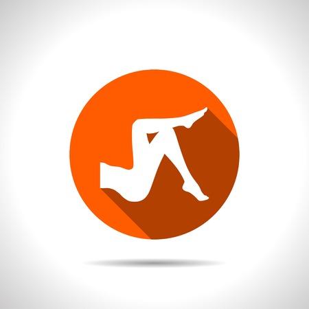 human icons: woman legs vector icon