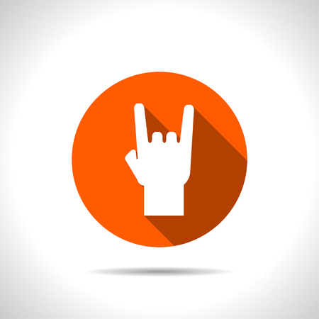 rock hand: rock hand sign icon