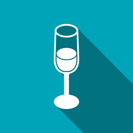 botella de licor: copa de vino icono 3D isom�trica