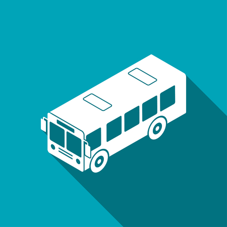 bus isometrische 3d pictogram Stock Illustratie