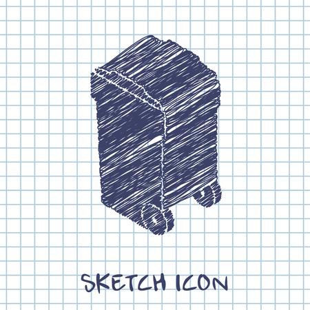dumpster: trash bin isometric 3d icon Illustration