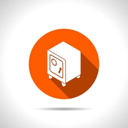 secret codes: safe isometric 3d icon