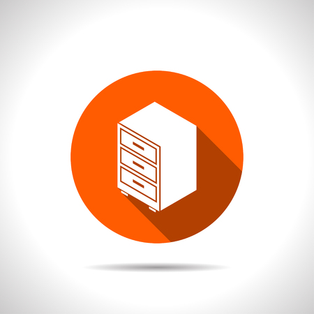 storage unit: storage cabinet isometric 3d icon