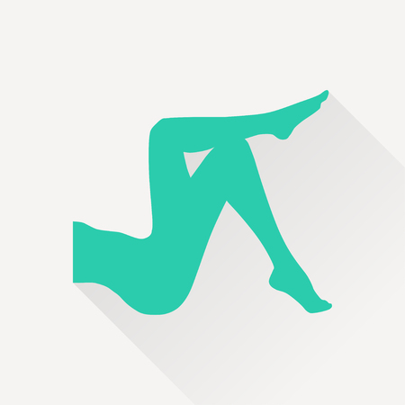 woman legs: woman legs vector icon