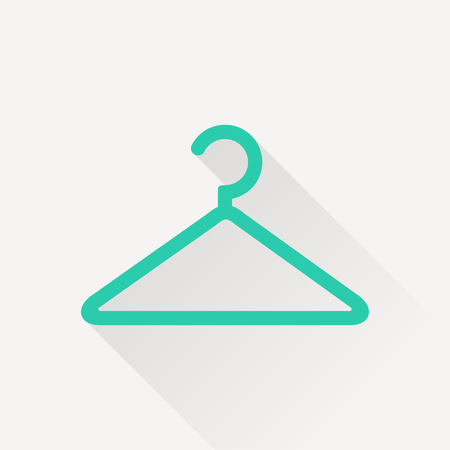 clothing store: clothes hanger vector icon Illustration