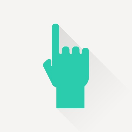 pointing hand: pointing hand vector icon