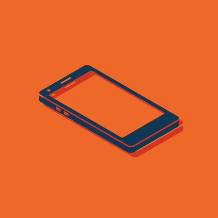vintage phone: smart phone 3d isometric icon