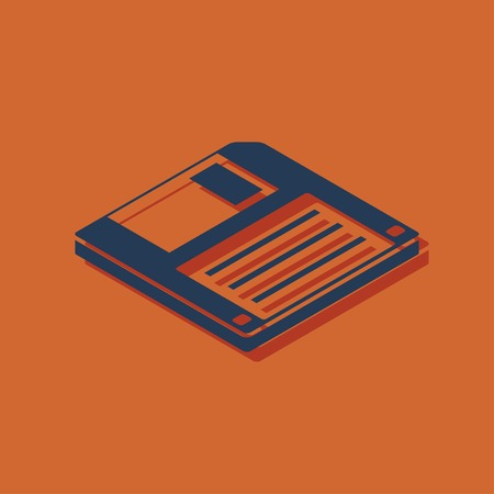 diskette: diskette save isometric 3d icon