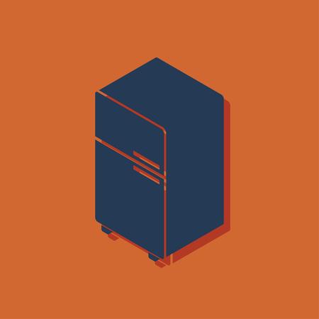 icebox: fridge isometric 3d icon