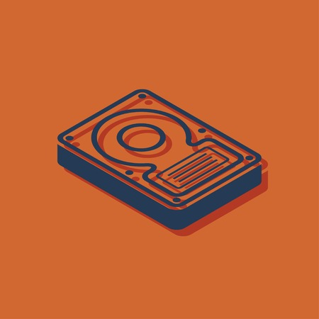 hard disk drive storage isometric 3d icon