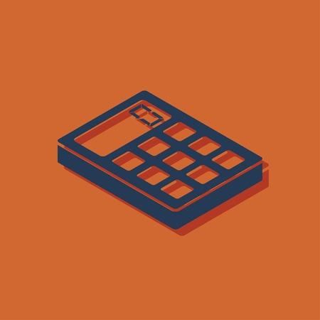 3d: calculator isometric 3d icon