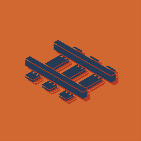 locomotion: railroad isometric 3d icon