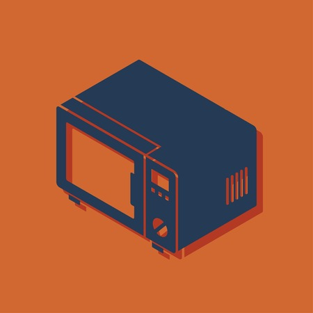 microwave oven: microwave oven isometric 3d icon