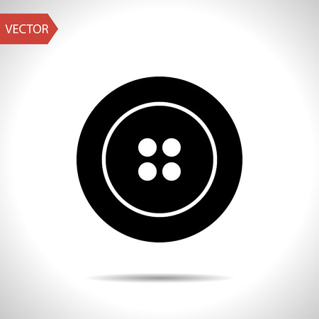 sewing button: sewing button vector icon