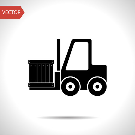 loading forklift vector icon