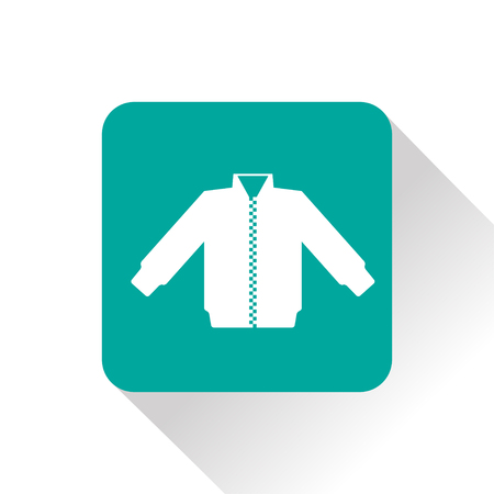 spring coat: casual jacket vector icon