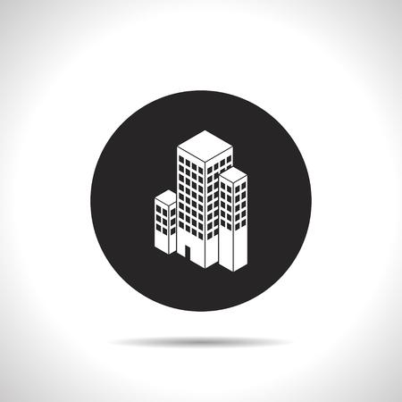 midtown: city buildings isometric 3d icon