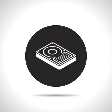 hard drive: hard disk drive storage isometric 3d icon