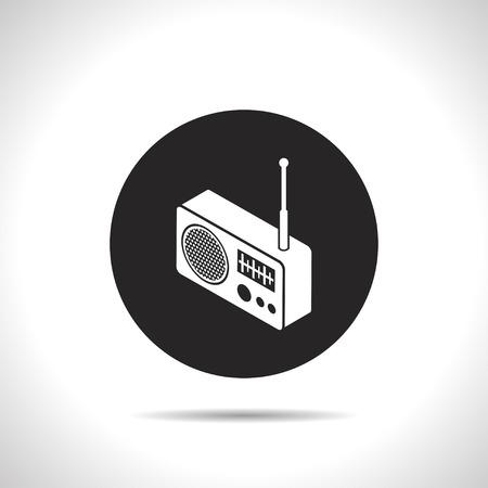 3d: radio isometric 3d icon