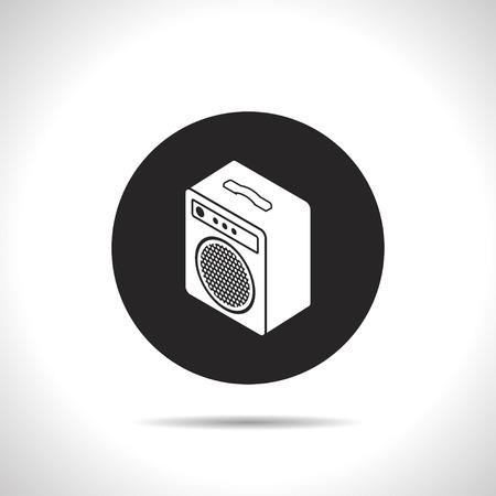 guitar amplifier: guitar amplifier isometric 3d icon