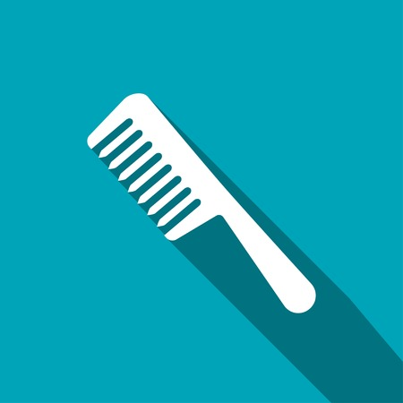 comb hair: hair comb vector icon