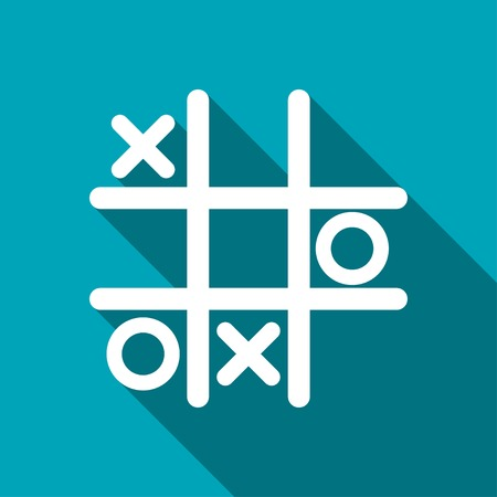 Tic tac toe game vector icon Illustration