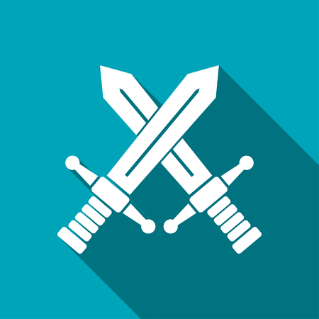 crossed swords: crossed swords vector icon