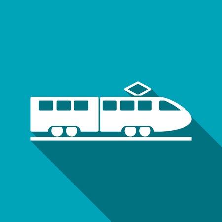 high speed rail: speed train vector icon