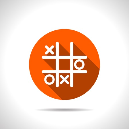 strategize: Tic tac toe game vector icon Illustration